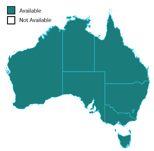 Map of hardware repairs in Australia