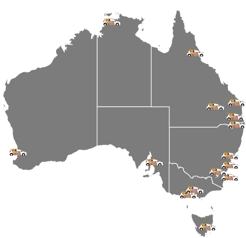Map of on-site services in Australia