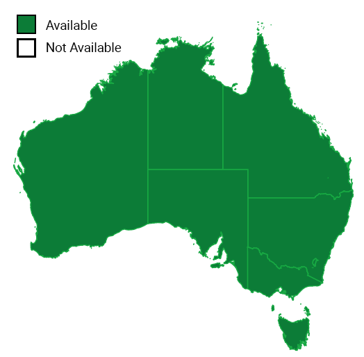 Map of remote support in Australia