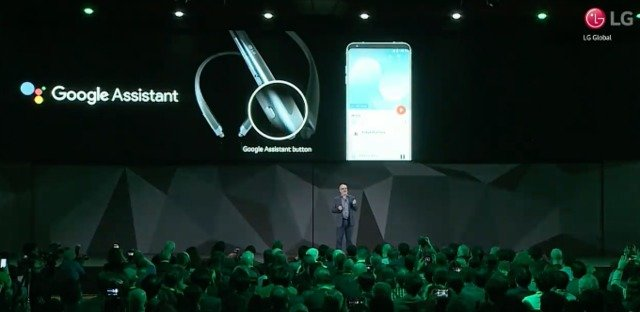 LG Tone Wireless Headset with Google Assistant Button