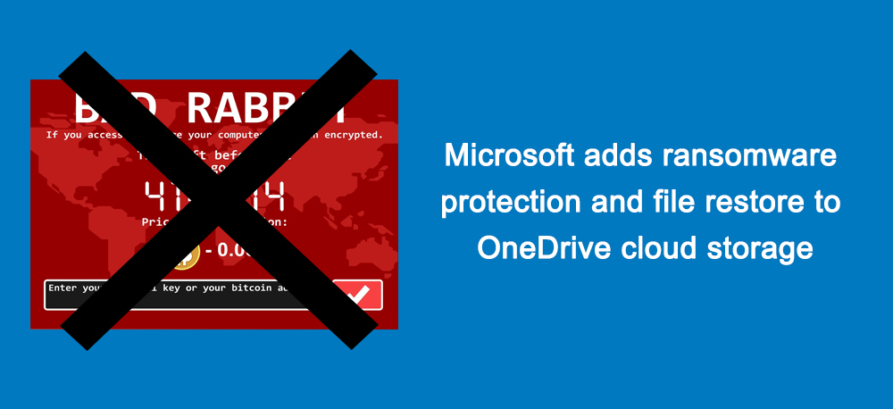 Microsoft adds ransomware protection and file restore to OneDrive cloud storage