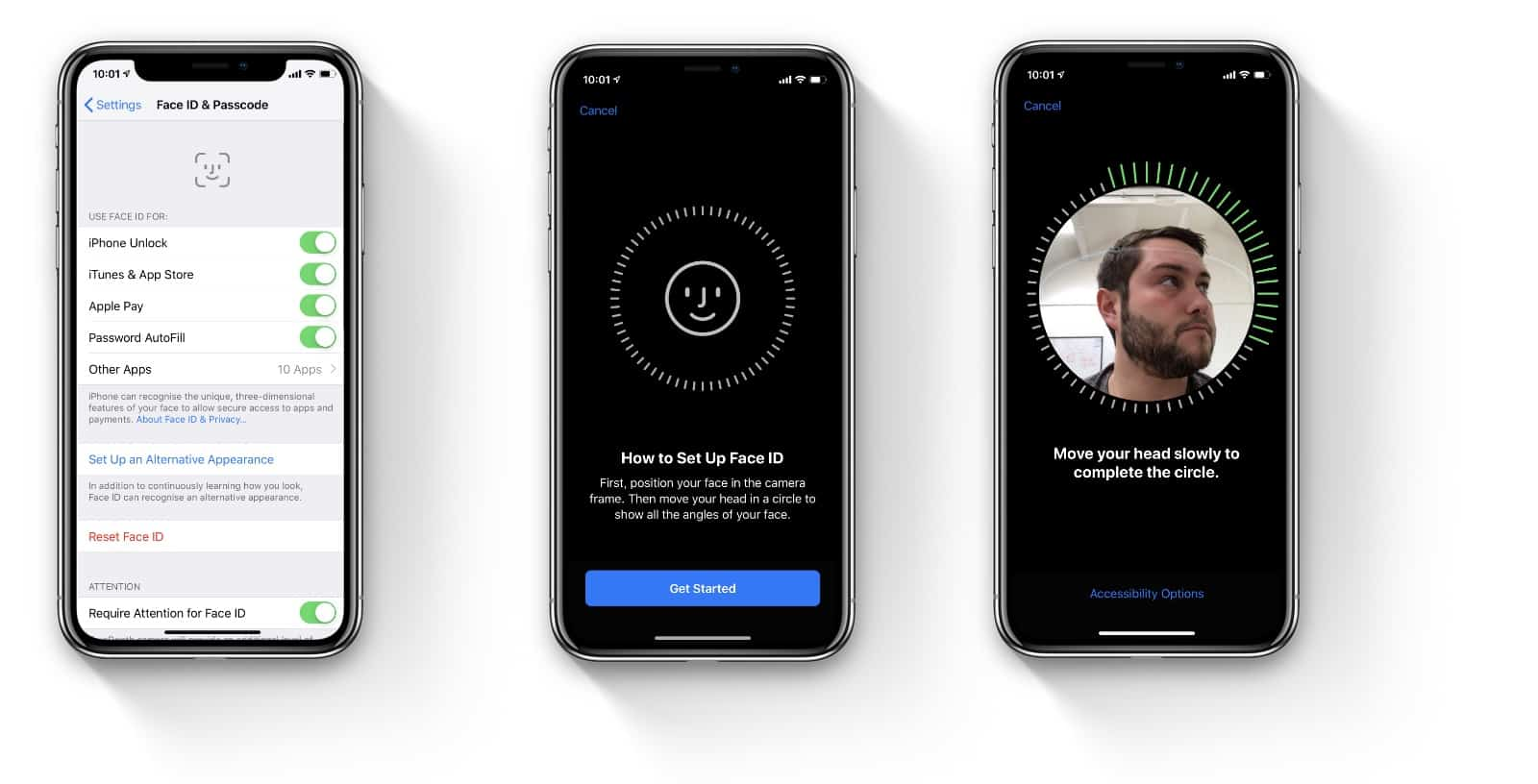 iOS - Face ID alternate appearance