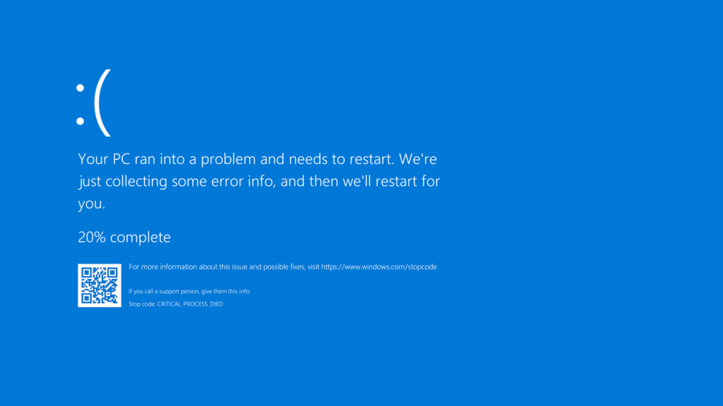 windows 10 blue screen of death