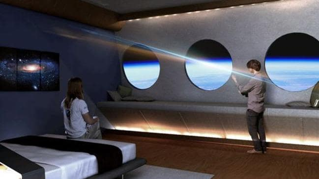 space hotel with gravity so you can walk around like normal