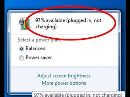 Laptop DC power - plugged but not charged