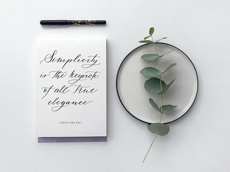 learn how to calligraphy