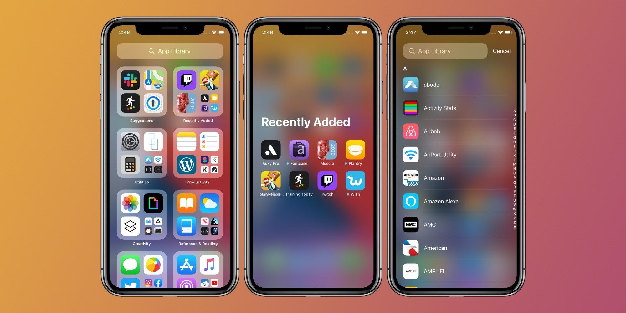 App Library - iOS 14 features