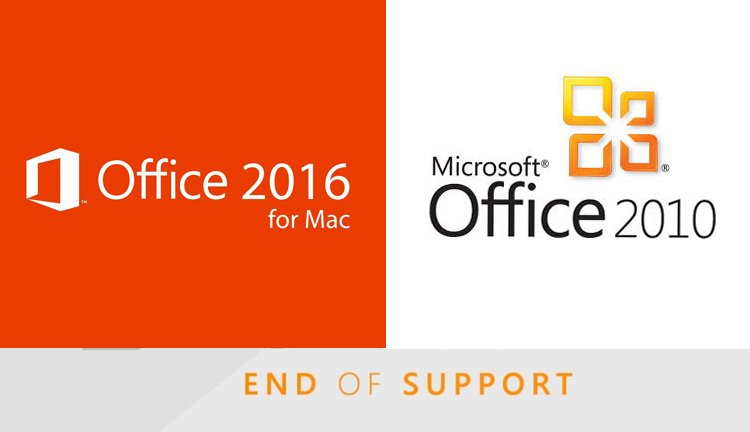 Microsoft to Cease Support for Office 2010 and 2016 for Mac
