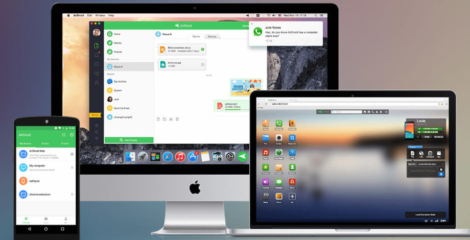 Android Airdroid file transfers