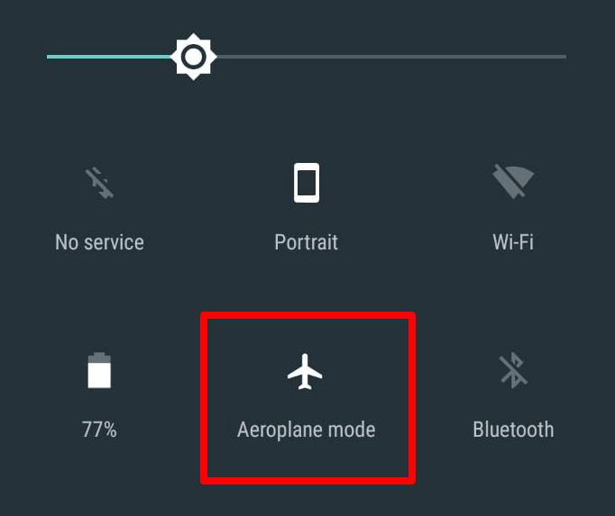 Airport mode - Android