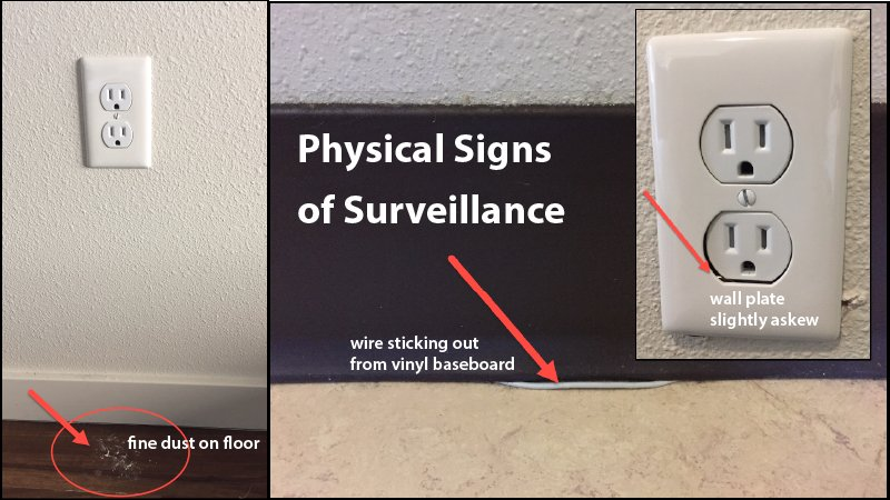 airbnb surveillance signs physical