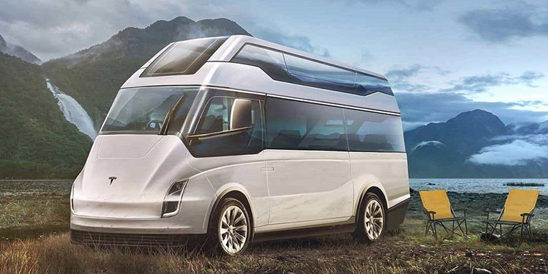 tesla electric van concept
