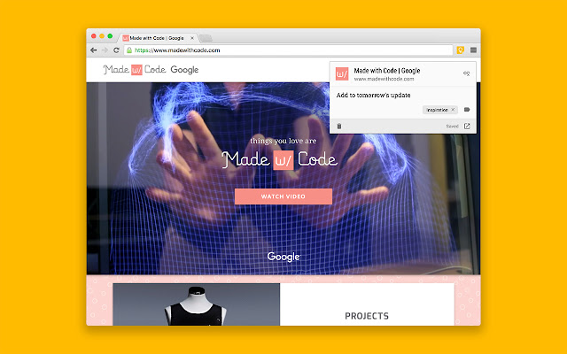 Google Keep Chrome Extension Addon