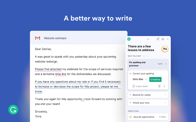 Grammarly Google Chrome Extension addon
