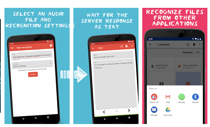Audio to Text Speech Recognition
